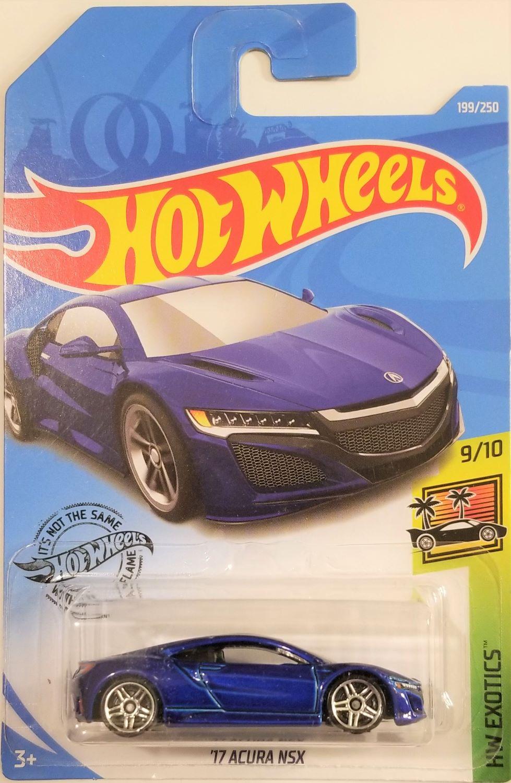 Hot Wheels 2019 /'17 Acura NSX 199//250 neu/&ovp