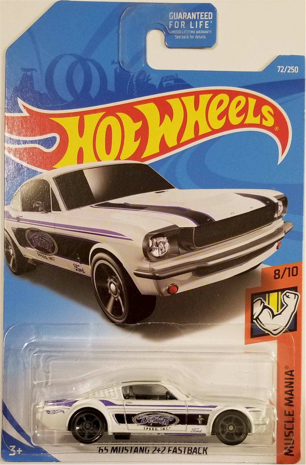 neu in OVP Muscle Mania HOT WHEELS 2019 ´65 Mustang 2+2 Fastback 72