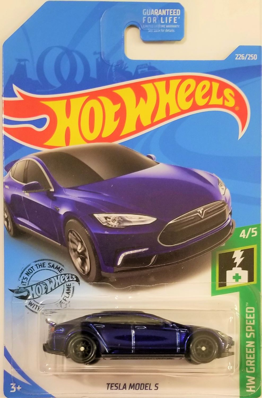 Great Card! Hot Wheels 2019 Super Treasure Hunt Tesla Model S