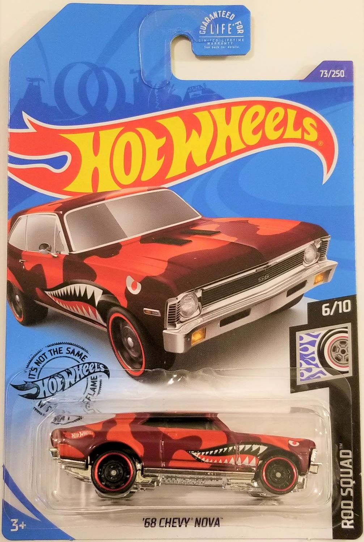 Hot Wheels 68 Chevy Nova rod Squad 6//10 1:64 73//250 2020 mattel