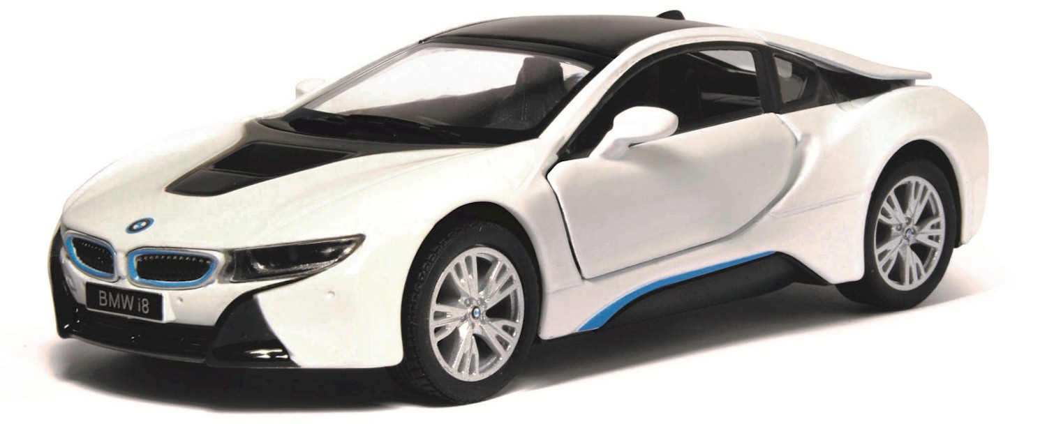 This Is A Brand New Kinsmart 1 36 Scale Model Bmw I8 White The About 4 75 Inches Long Comes With Pull Back Go And Opening Doors